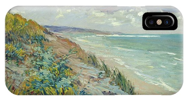 Landscape iPhone Case - Cliffs By The Sea At Trouville  by Gustave Caillebotte