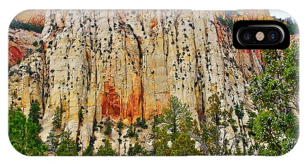 Cliffs Near Checkerboard Mesa Along Zion-mount Carmel Highway In Zion National Park-utah IPhone Case