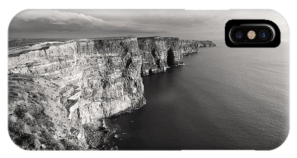 IPhone Case featuring the photograph Cliffs Of Moher Ireland In Black And White by Pierre Leclerc Photography