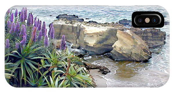 Laguna Beach iPhone Case - Cliffside Ocean View by Elaine Plesser