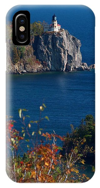 Split Rock iPhone Case - Cliffside Scenic Vista by James Peterson