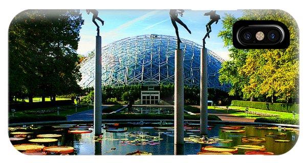 Climatron Geodesic Dome Landscape IPhone Case
