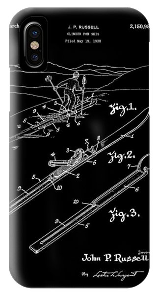 Climber For Skis 1939 Russell Patent Art IPhone Case