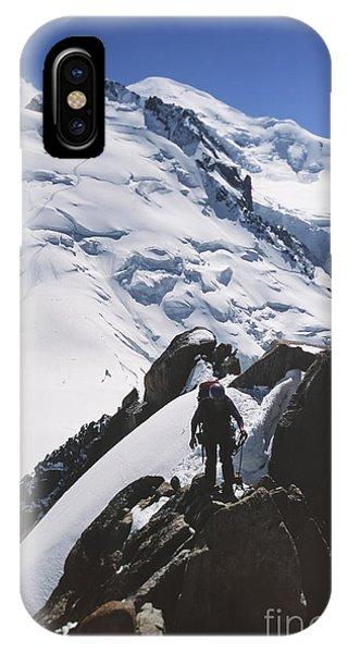 Climber On Mt Blanc In France Phone Case by Soren Egeberg