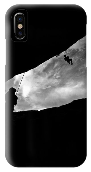 Climber Silhouette 1 Phone Case by Chase Taylor