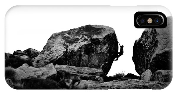 Climber Silhouette 4 Phone Case by Chase Taylor