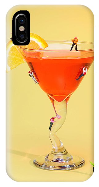 Martini iPhone Case - Climbing On Red Wine Cup by Paul Ge