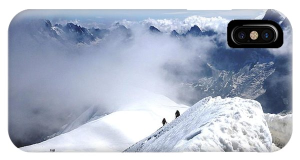 Climbing To The Aiguille Du Midi IPhone Case
