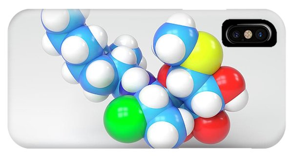 Synthesis iPhone Case - Clindamycin Antibiotic Molecule by Indigo Molecular Images