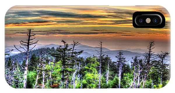 Clingmans Sunset Panoramic IPhone Case