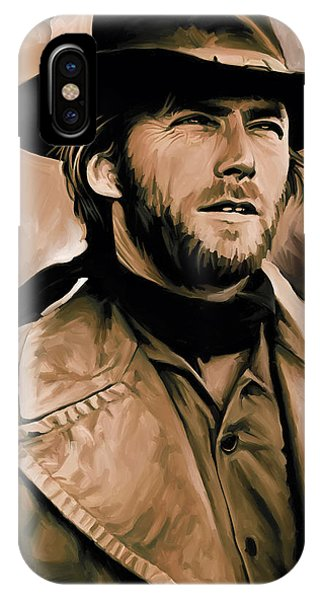 Clint Eastwood Artwork IPhone Case