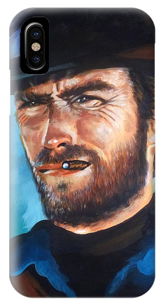 Clint Eastwood Portrait Phone Case by Robert Korhonen