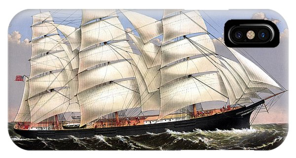 Clipper Ship Three Brothers IPhone Case