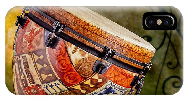 Clissic Djembe African Drum Photograph In Color 3334.02 IPhone Case