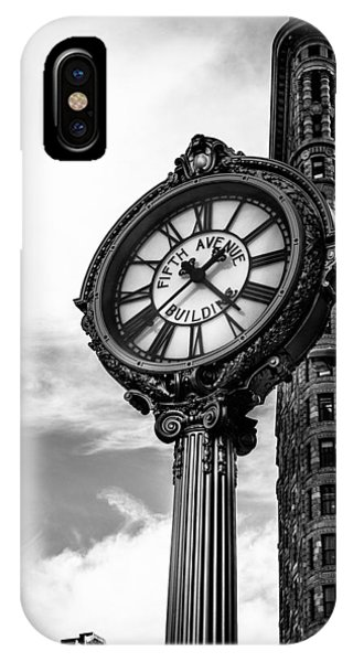 Clock Of Fifth Avenue Building IPhone Case