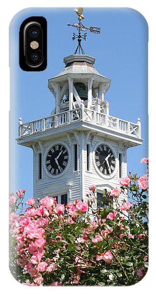 Clock Tower And Roses IPhone Case