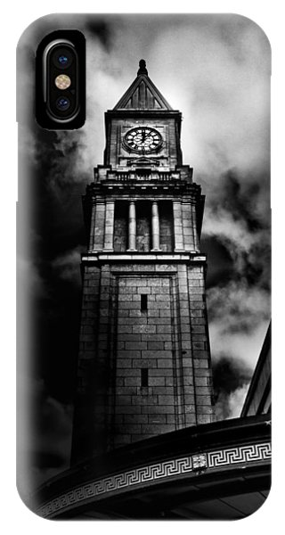 Clock Tower No 10 Scrivener Square Toronto Canada IPhone Case