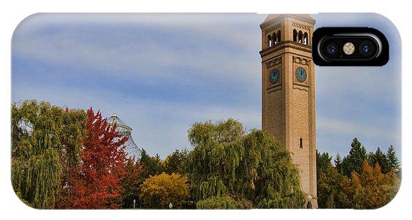Clocktower Fall Colors IPhone Case