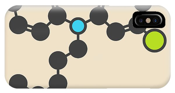 Chronic Pain iPhone Case - Clomipramine Tricyclic Molecule by Molekuul