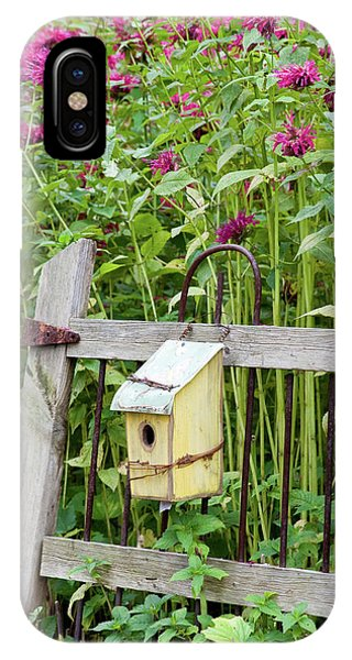 Scarlet iPhone Case - Close-up Of A Birdhouse On A Rustic by Panoramic Images