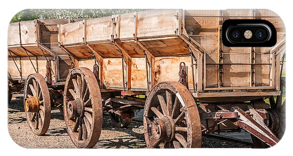 Close-up Of Grain Wagons IPhone Case