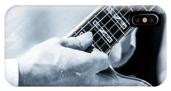 Close Up Of Guitarist Hand Strumming IPhone Case