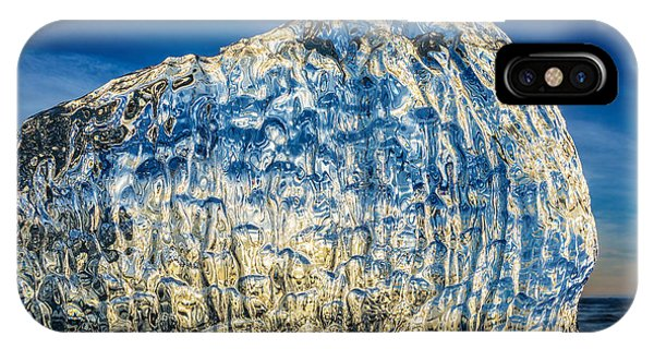 Black Sand iPhone Case - Close Up Of Ice. Ice Formations Come by Panoramic Images