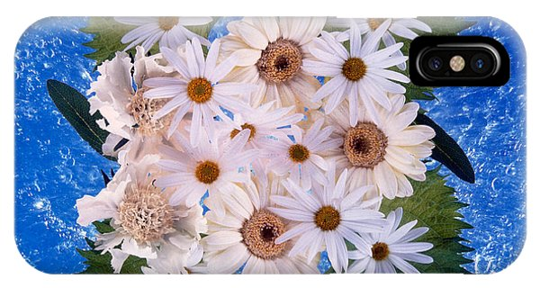 Mottled iPhone Case - Close Up Of White Daisy Bouquet by Panoramic Images