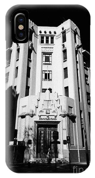 closed branch of banco estado the state bank Santiago Chile Phone Case by Joe Fox
