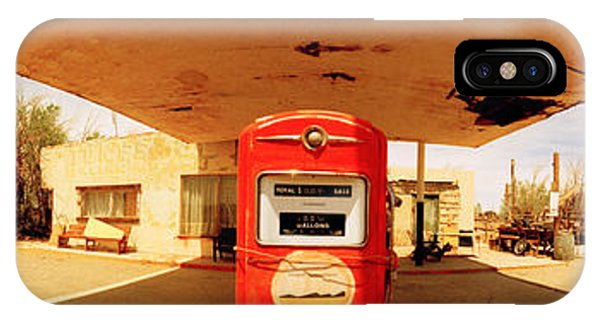 Closed Gas Station, Route 66, Usa IPhone Case