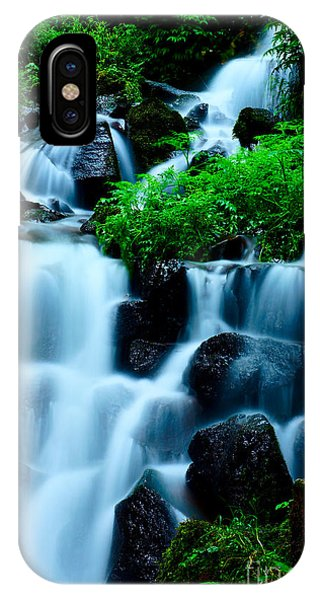 Closeup Of Beautiful Waterfall In Karuizawa Japan IPhone Case
