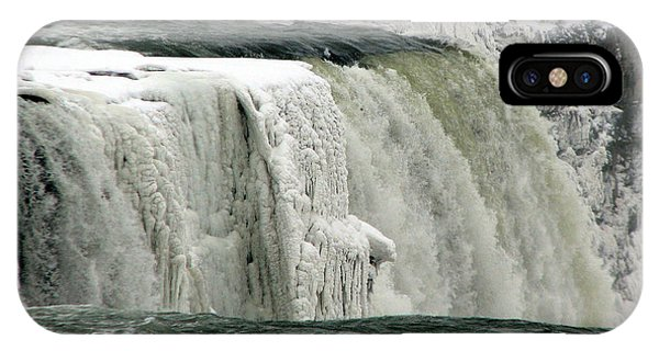 Closeup Of Icy Niagara Falls IPhone Case