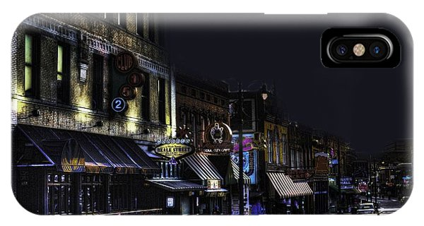 Memphis - Night - Closing Time On Beale Street IPhone Case