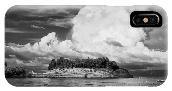 Cloud Boat And Cliffs On Corfu IPhone Case