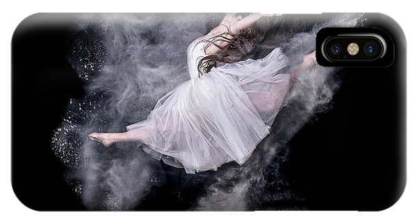 Explosion iPhone X Case - Cloud Dancer by Pauline Pentony Ma