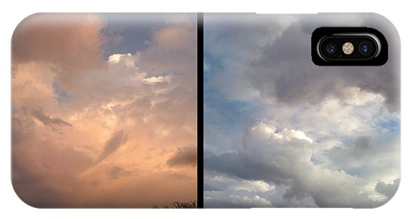 Skyscape iPhone Case - Cloud Diptych by James W Johnson