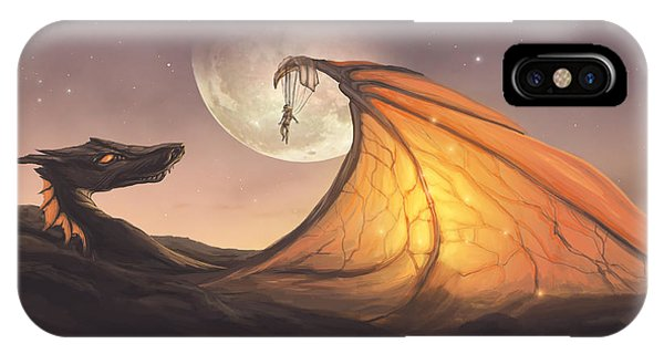 Cassiopeiaart iPhone Case - Cloud Dragon by Cassiopeia Art