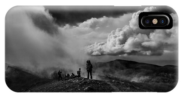 Cloud Factory Bw IPhone Case