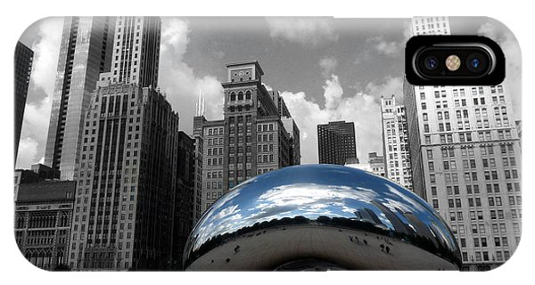 Cloud Gate B-w Chicago IPhone Case