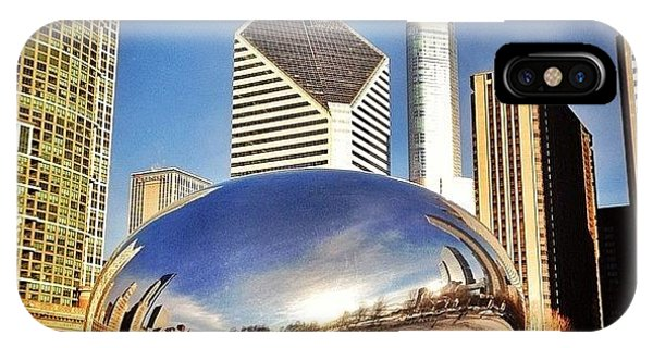 Colorful iPhone Case - Cloud Gate chicago Bean Sculpture by Paul Velgos