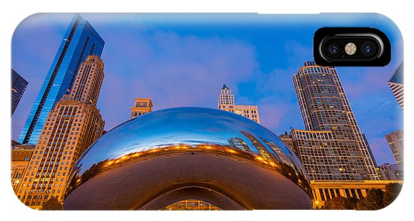 Chicago Skyline Art iPhone Case - Cloud Gate Number 1 by Inge Johnsson