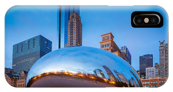 Chicago Skyline Art iPhone Case - Cloud Gate Number 2 by Inge Johnsson