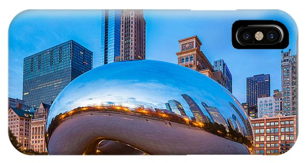 Chicago Skyline Art iPhone Case - Cloud Gate Number 3 by Inge Johnsson