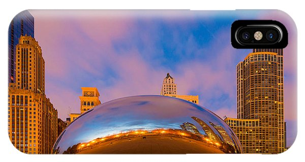 Chicago Skyline Art iPhone Case - Cloud Gate Number 4 by Inge Johnsson