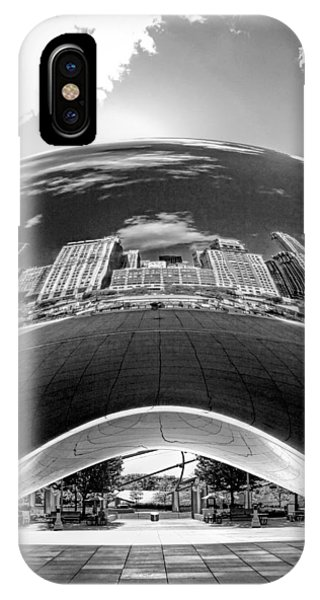 Cloud Gate Under The Bean Black And White IPhone Case