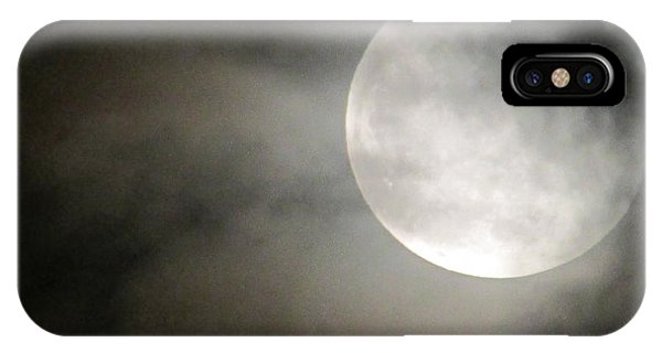 Clouded Moon IPhone Case