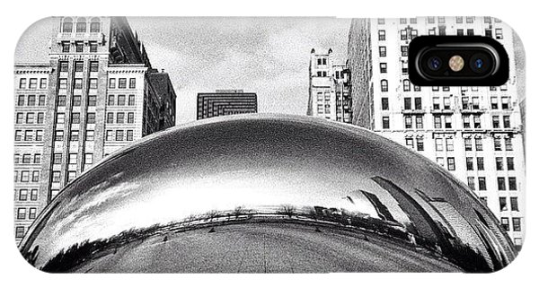 Architecture iPhone Case - Chicago Bean Cloud Gate Photo by Paul Velgos