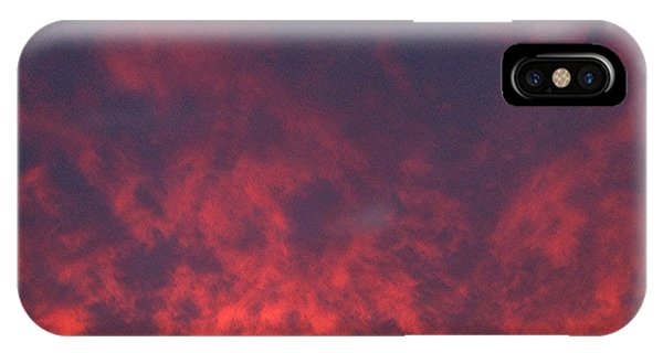 IPhone Case featuring the photograph Clouds Ablaze by Marian Palucci-Lonzetta