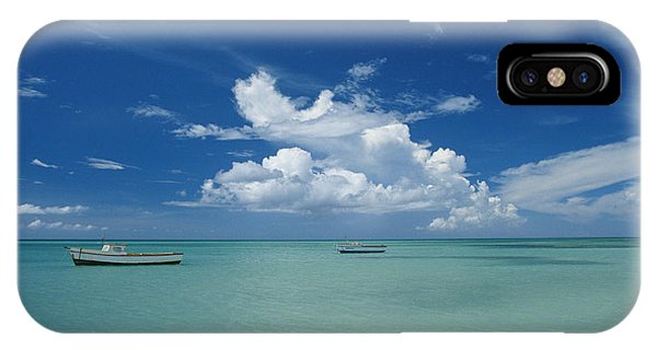 Clouds And Boats, Aruba Phone Case by Skip Brown