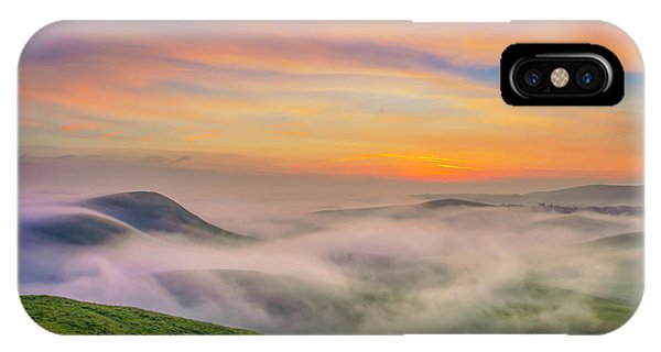 Clouds And Fog At Sunrise IPhone Case